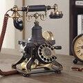Ретро винтажный Античный стиль проводной поворотный циферблат Настольный телефон с механическим рингтоном домашний офис украшение бара