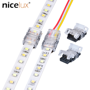 10pcs 2/3/4/5/6pin RGBW LED Strip Connector for Single RGB RGBW 3528 5050 WS2812B LED Strip to Wire Strip Connection Terminal