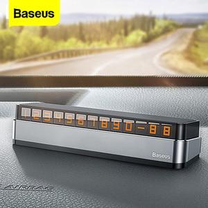 Baseus Car Temporary Parking Card Phone Number Car Phone Holder Luminous Telephone Number Plate Car Park Car-styling Accessories