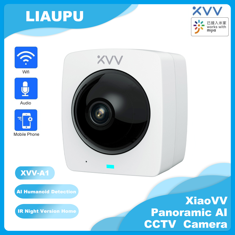 Xiaovv A1 Smart 360  Panoramic IP Camera HD 1080P AI Humanoid Detection Security IR Night Vision Survillance Mini CCTV Camera