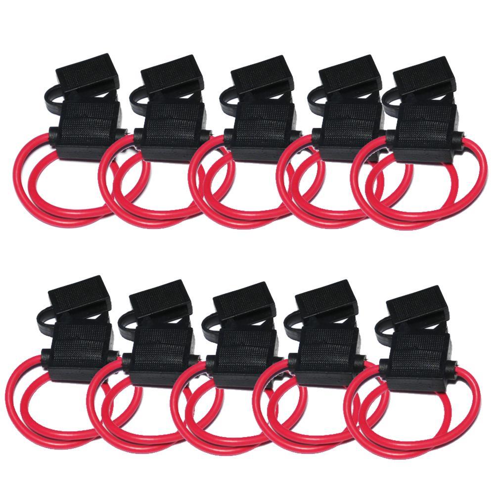10PCS Auto Inline-Sicherung Halter Wasserdichte Sicherung Box Draht 12 für 30A Sicherungen