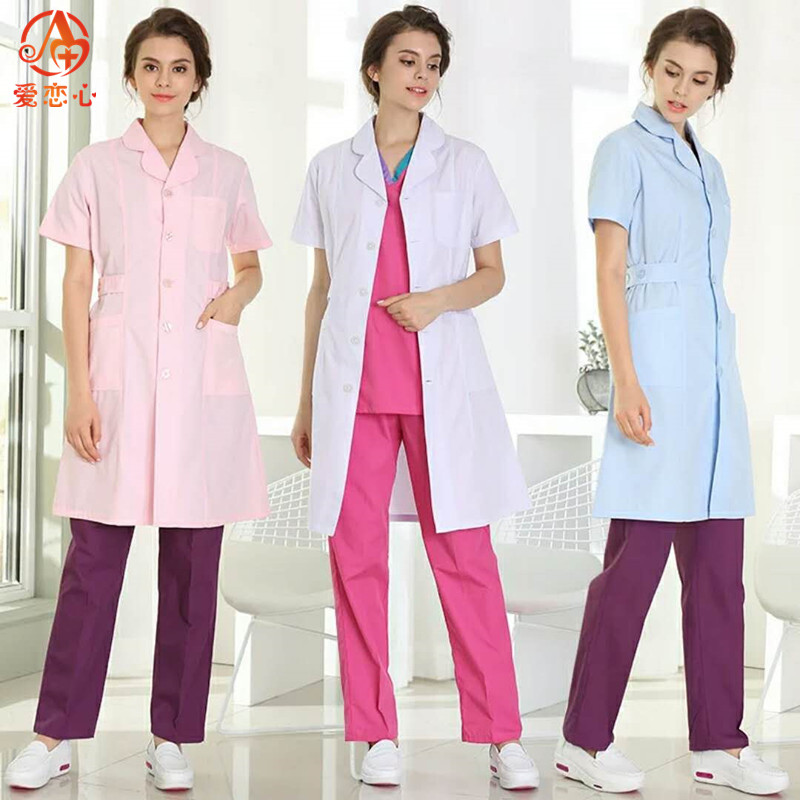 Medical Clothing Women Medical Gown Lab Coat White Coat Clothes For Doctors Summer And Spring-AI