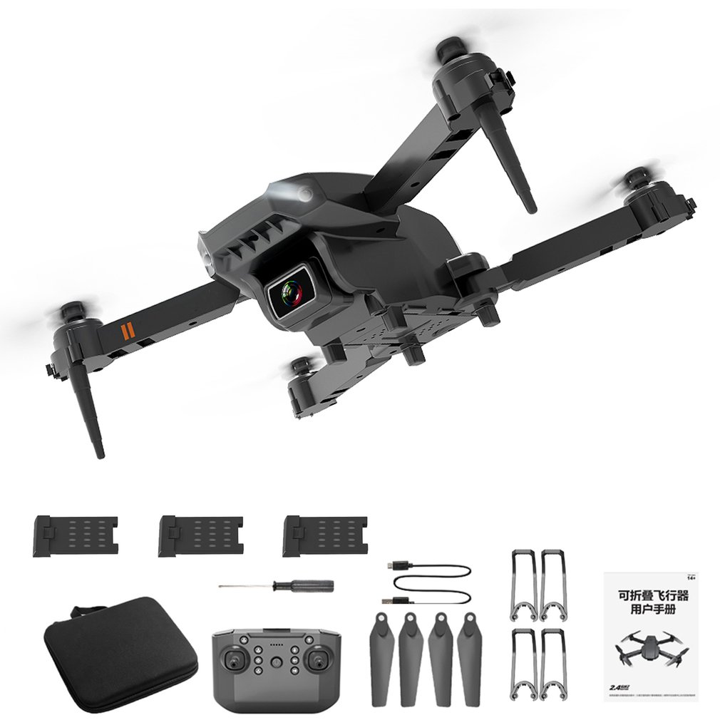Mini Drone WIFI FPV With Wide Angle HD Dual 4K Camera Swithc Hight Hold Mode Foldable Arm RC-Quadcopter-Drone X Pro RTF Dron