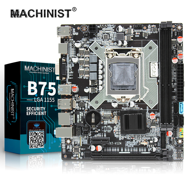 B75 LGA 1155 Desktop Motherboard Support Intel Xeon LGA1155 Processor DDR3 M-ATX For I3/i5/i7 Integrated Graphics Mainboard
