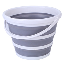 10L Round Folding Bucket Portable Fishing Car Wash Camping Tub Household Cleaning Tools Bathroom Collapsible Space Saver Buckets