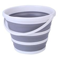 10l balde dobrável redondo portátil pesca lavagem de carro acampamento banheira ferramentas limpeza do agregado familiar banheiro dobrável espaço saver baldes