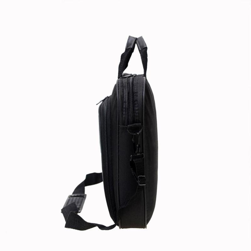 Briefcase Bag 15.6 Inch Laptop Messenger Bag Black Business Office Bag Computer Handbags Simple Shoulder Bag for Men Women 9