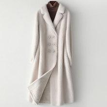 New Granule Cashmere Coat Women Autumn and Winter 2019 Fashion Compound Double-faced Fur Outerwear Long Woolen