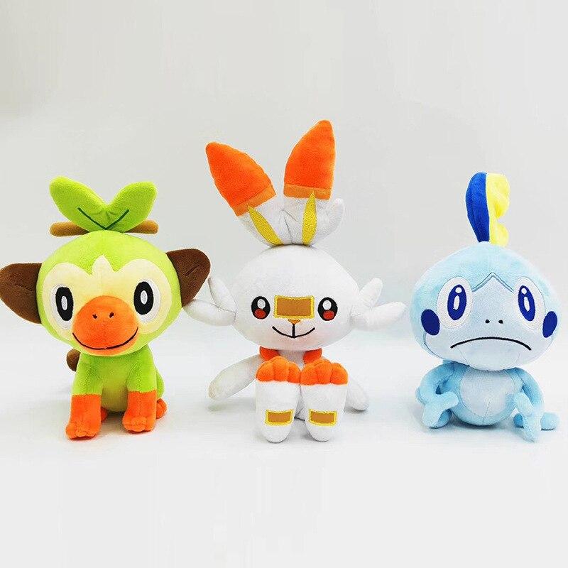 Sword Shield Galar Farfetch'd Gosanke Sobble Grookey Scorbunny Plush Toys Cartoon Game Dolls For Kids Children Gift