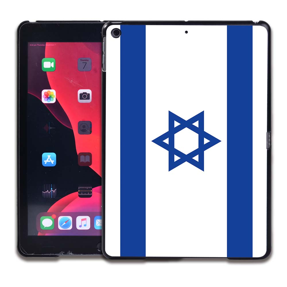 8.Israeli flag Silver Tablet Hard Back for Apple IPad 8 2020 8th Gen 10 2 A2270 A2428 Z2429 Z2430
