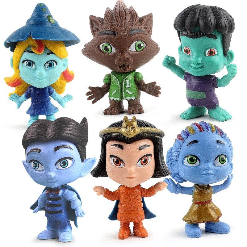 Super Monsters 6pcs/lot 9cm PVC Action Figure Toy Desktop Decoration Model Dolls Toy For Kids Birthday Gift