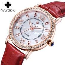 Wwoor элегантные женские наручные часы модные брендовые роскошные