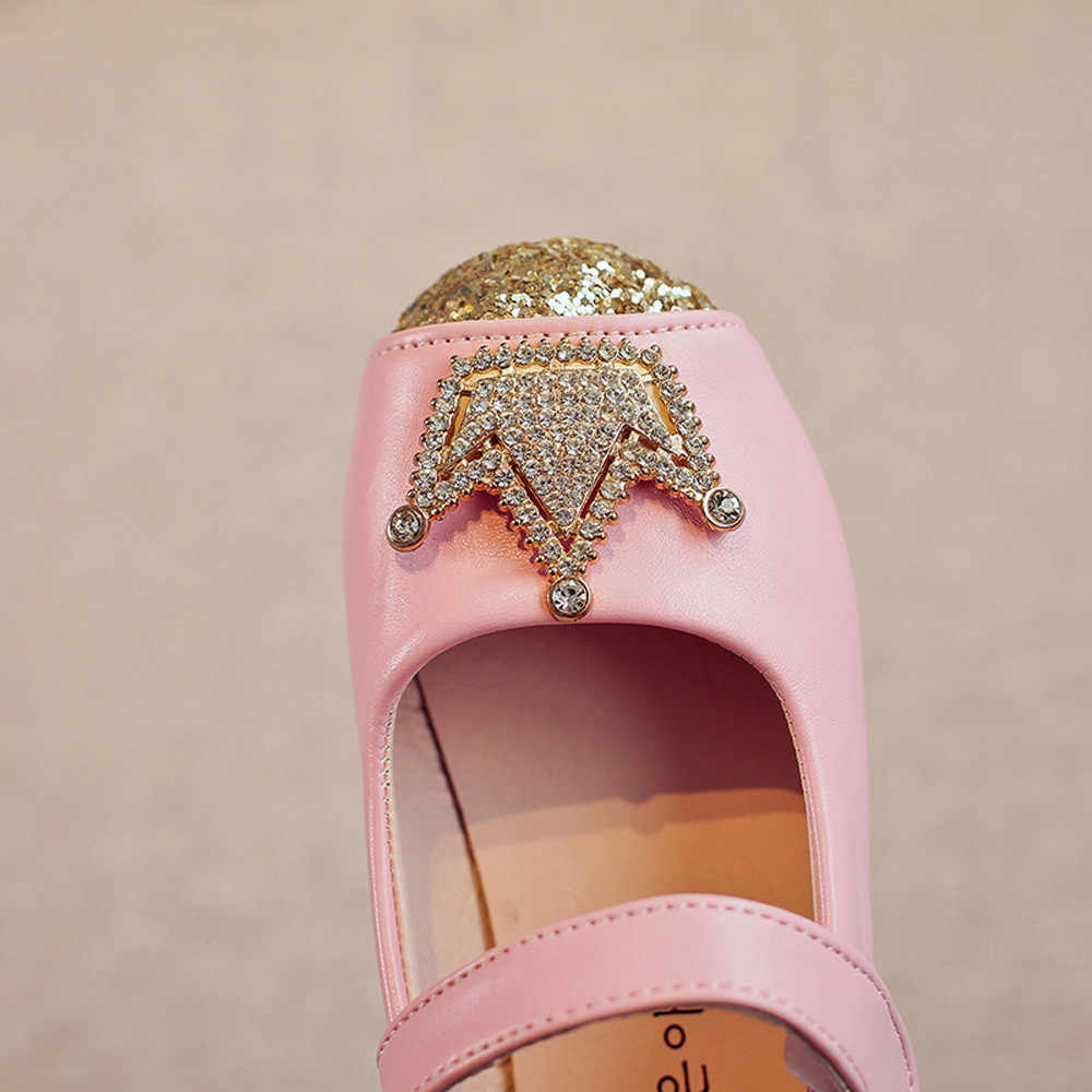 2-12Y Toddler Kids Girls Baby Beading Princess Crown Sandals Single Shoes