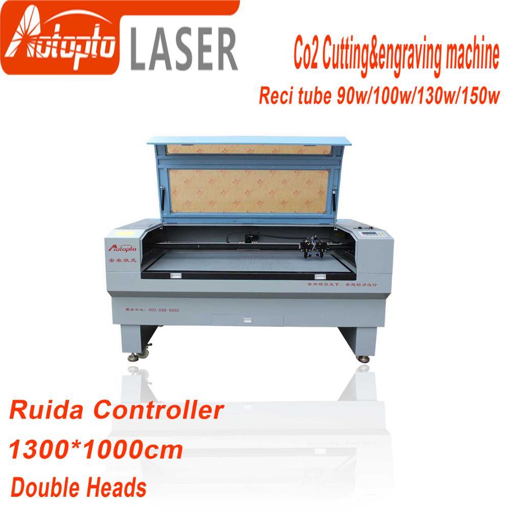 Reci tube100w 130w 150w 1310 Laser Engraver Ruida 6442S Laser Engraving Cutting Machine woodworking wood plywood acrylic leather