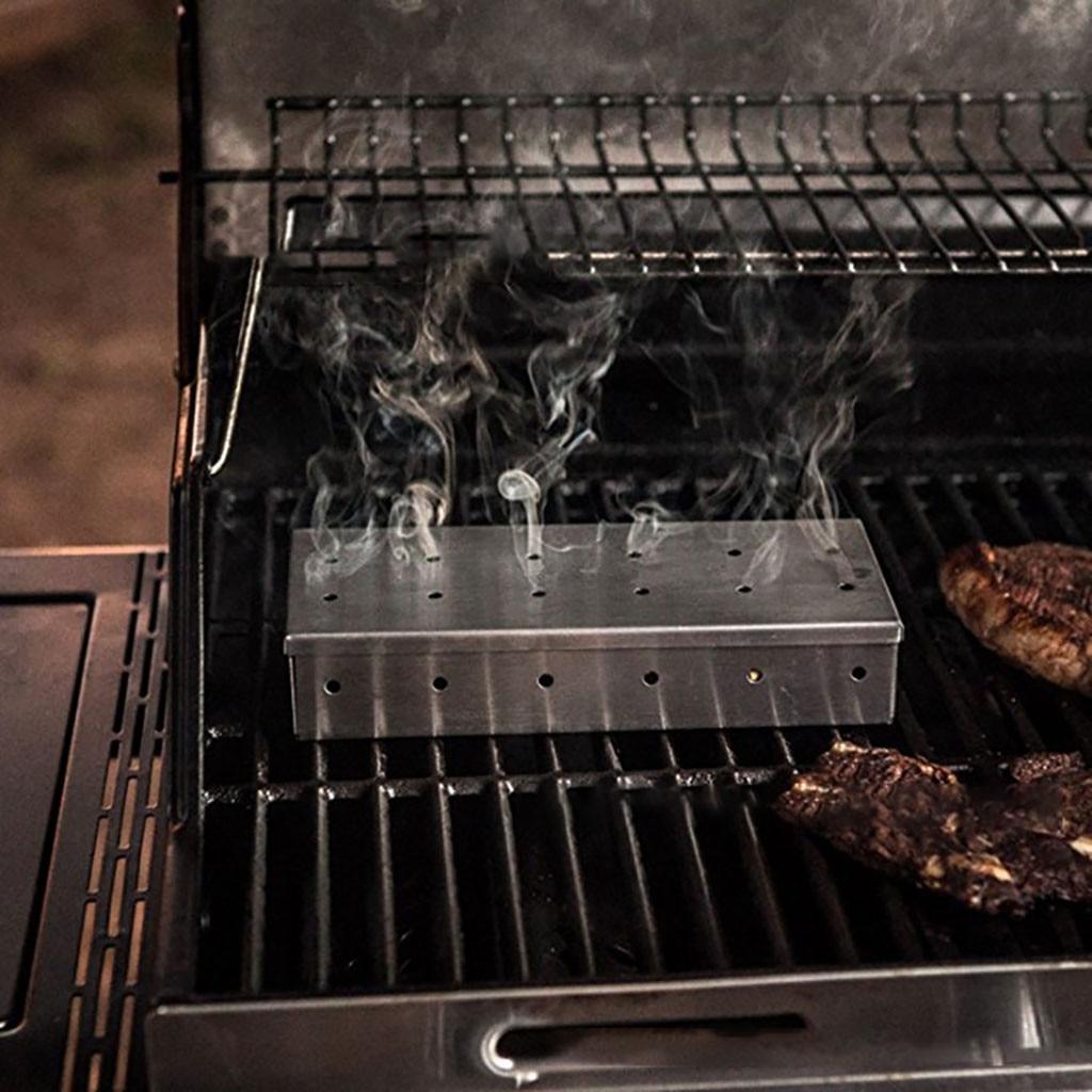 Домашняя кухня, продукты для барбекю на открытом воздухе, коптильня из нержавеющей стали, коробка для барбекю из нержавеющей стали, дымовая коробка| |   | АлиЭкспресс