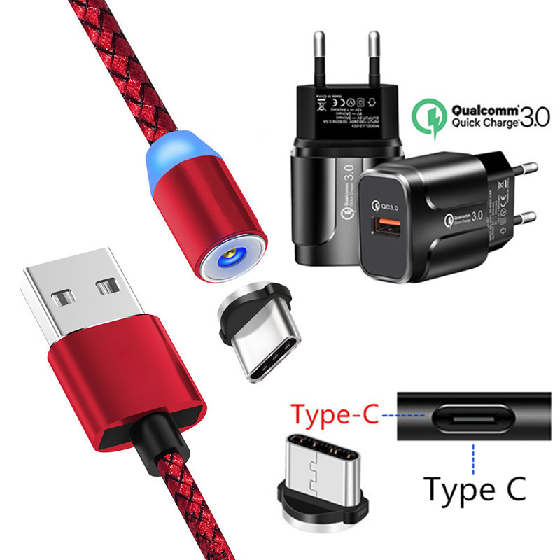 Magnetic USB QC 3.0 Fast Charger Honor 9X 10 20 Pro Type C Magnet Charge Cord For Nokia 7.1 Samsung Galaxy A50 Note 9 Meizu 16s