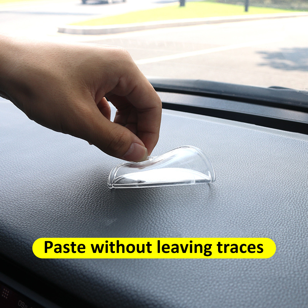 Adhesive-Tape Non-Slip-Mat Car-Mat Car-Instrument-Panel Silicone-Pad Transparent Round title=