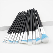 12Pcs Makeup Brushes Set Cosmetic Foundation Powder Blush Eye Shadow Lip Blend Wooden Make Up Brush Tool Kit Maquiagem T12009