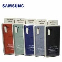 Original สำหรับ Samsung Galaxy Note 10/10 Pro หนังนิ่มหนัง Anti ลายนิ้วมือด้านหลังฝาครอบโทรศัพท์ป้องกัน