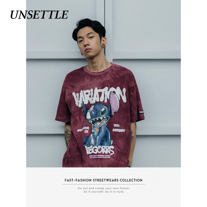 UNSETTLE Harajuku Funny Print T-Shirts Streetwear Hip Hop Casual Loose Short Sleeve Tees Tshirts Men/Women Summer Fashion Tops