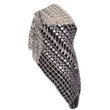 180x55 см Женская винтажная накидка с вырезами и кисточками, свадебная накидка, блестящая шаль с блестками для банкета, вечеринки