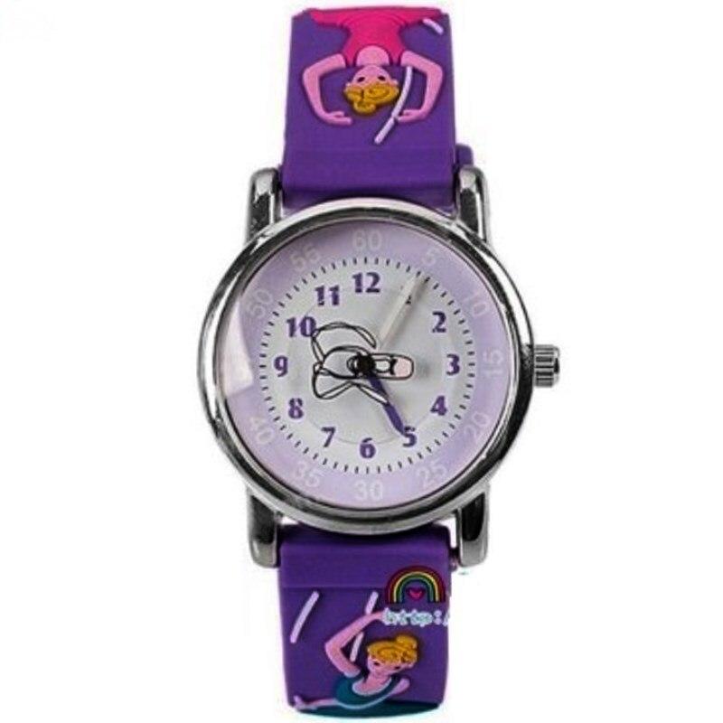 WILLIS Fashion 3D Children Dance Watches Cartoon Child Kids Quartz Watches Sport Waterproof Clock Wristwatches Relojes Relogios