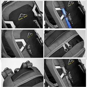 Image 5 - 60L עמיד למים יוניסקס גברים תרמיל נסיעות חבילת ספורט תיק חיצוני חבילת טיפוס הרים טיולי קמפינג תרמיל לזכר