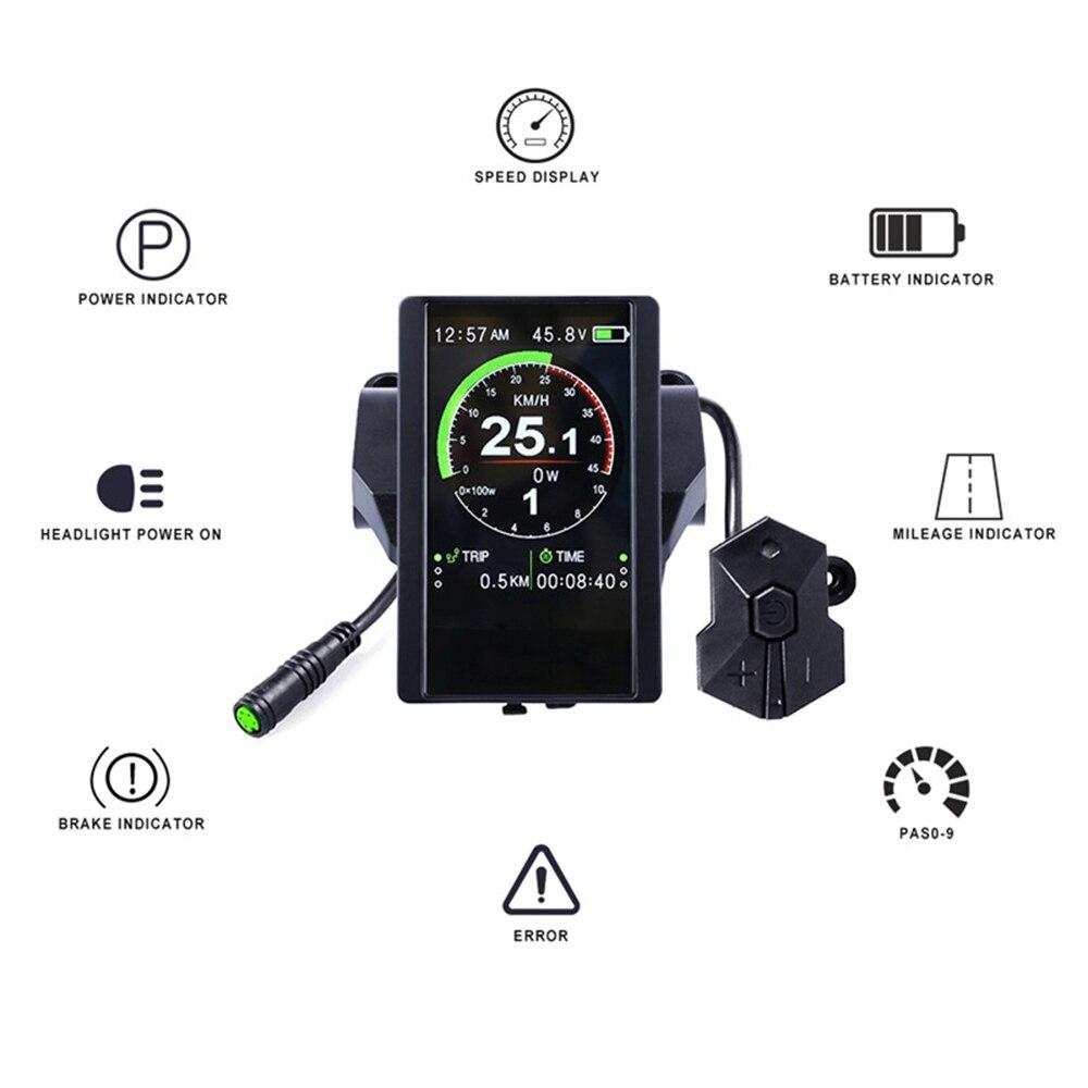 48V500W TONGSHENG/SFM TSDZ2 elektrische fahrrad mitte stick motor kit mit daumen-drossel und 850C display