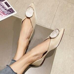 Image 3 - Zapatillas de Ballet para mujer, calzado sin cordones, poco profundo, para primavera y otoño, 2020