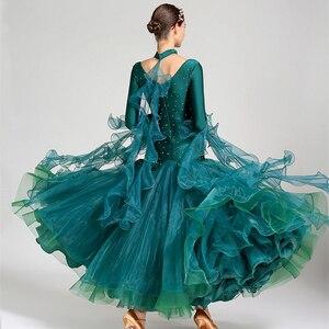 Image 4 - white ballroom dress long sleeves waltz dresses for ballroom dancing foxtrot dance dress standard ball dress sequins dance wear