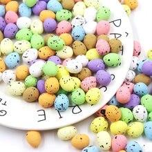 50 шт. 1,5x1,8 см Happy украшение пасхальные яйца искусственные цветы для украшения дома, вечерние ручные поделки Детские интересный подарок пасха...
