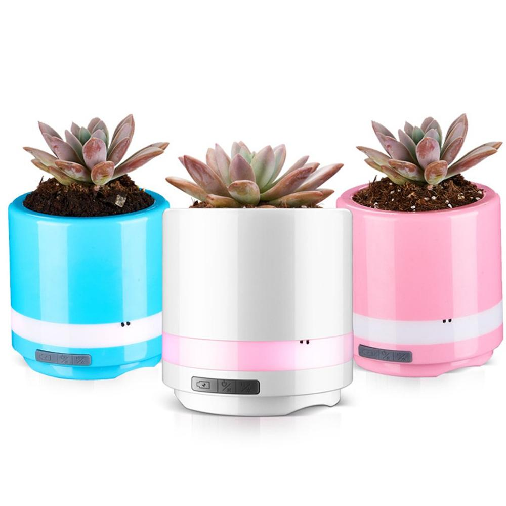 Air Purifier Wireless Speaker Potted Purifier Intelligent Touch Sensing Multifunction Singing Car Air Purifier For Car Auto