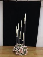 New Acrylic Candelabra 8 Heads / Arms Candle Holders Wedding Table Centerpiece Flower Stand Holder Candelabrum Party Home Decor