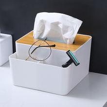 Многофункциональный бамбука крышка ткани коробка креативный