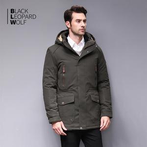 Image 2 - Blackleopardwolf 2019 winter jacket men fashion coat thick Alaska parka men  Windproof Detachable cotton outwear  BL 6607