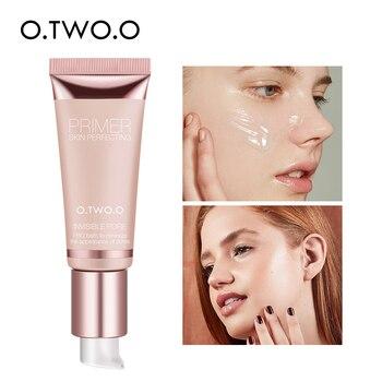 O.TWO.O maquillaje Base para cara Primer Gel Invisible poro aceite de luz-maquillaje gratis terminar No pliegues No Cakey Cartilla de La Fundación cosmética
