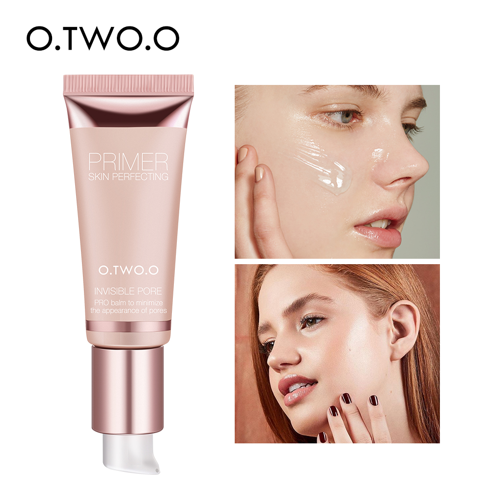 O.TWO.O Makeup Base Face Primer Gel Invisible Pore Light Oil Free Makeup Finish No Creases Not Cakey Foundation Primer Cosmetic