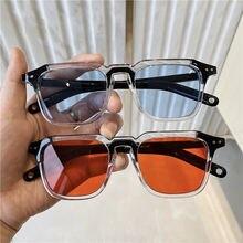 Классические винтажные Розовые Квадратные Солнцезащитные очки