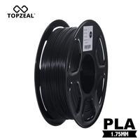 Top Qualität Schwarz PLA Filament 3D Druck Material 1 75mm 1KG Spool PLA Kunststoff für 3D Drucker Dimensionale Genauigkeit +/-0 02mm