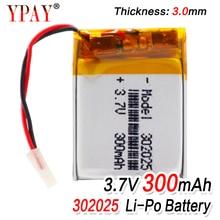 цена на 1/2/4pcs 3.7 V 300mAh 302025 Lipo Li-polymer Lithium Polymer Batteries With PCM For MP3 MP4 MP5 Bluetooth Headset Smart Watch