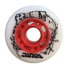 Os pneus inline da patinação do rolo de deslizamento de fsk 72 76 80mm para patinas do powerslide de de seba calçam 92a 95a resistentes do patim de papaya