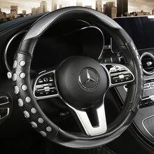 37 38 см новые чехол рулевого колеса автомобиля искусственная