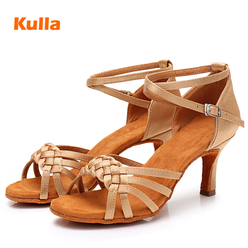 Latin Dance Shoes Woman White Satin Ladies Girl's Professional Dancing Shoes Jazz Ballroom Party Salsa Dance Shoes 5cm/7cm Heel