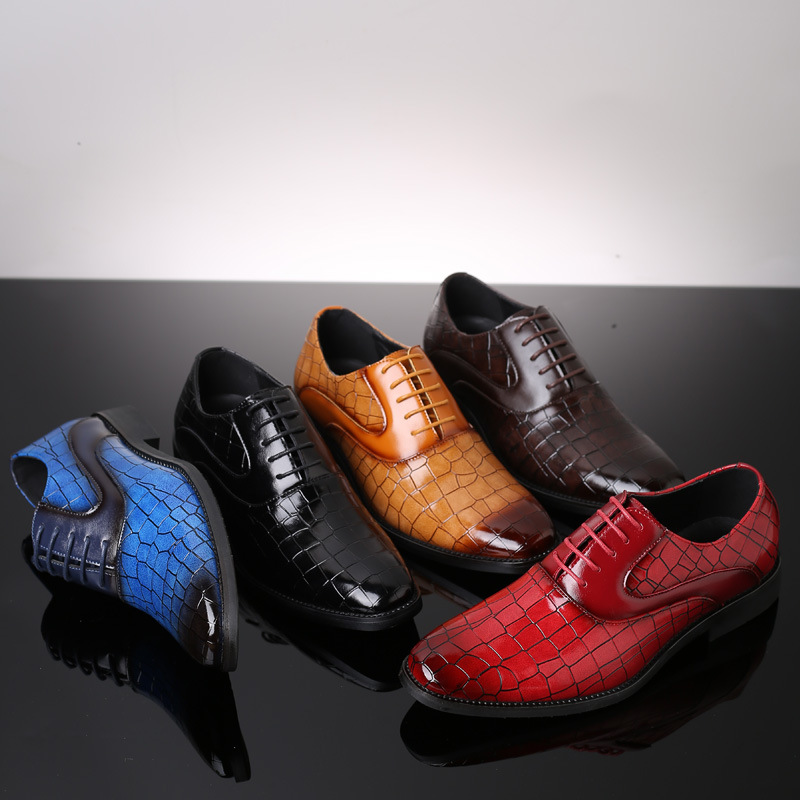 2019 Spring Summer New Men's Shoes England Fashion Brock Men's Tide Shoes Men's Extra Large Size Shoes Mens Leather Casual Shoes
