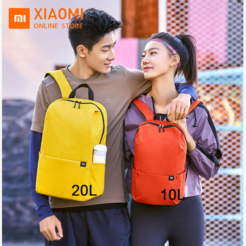 Original Xiaomi Mi10L backpack waterproof colorful sports chest bag unisex men and women travel camping small backpack storage image