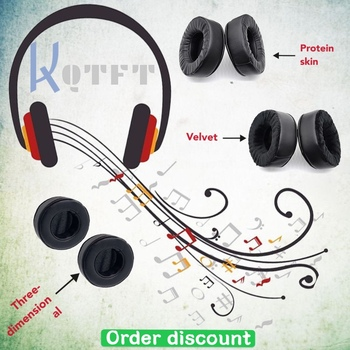 Earpads Velvet for Plantronic RIG 500E Surround Sound PC Headset Replacement Earmuff Cover Cups Sleeve pillow Repair Parts image