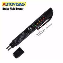 VDIAGTOOL Brake Fluid Tester with 5 LED indicator display for DOT3/DOT4 Liquid Digital Tester Vehicl