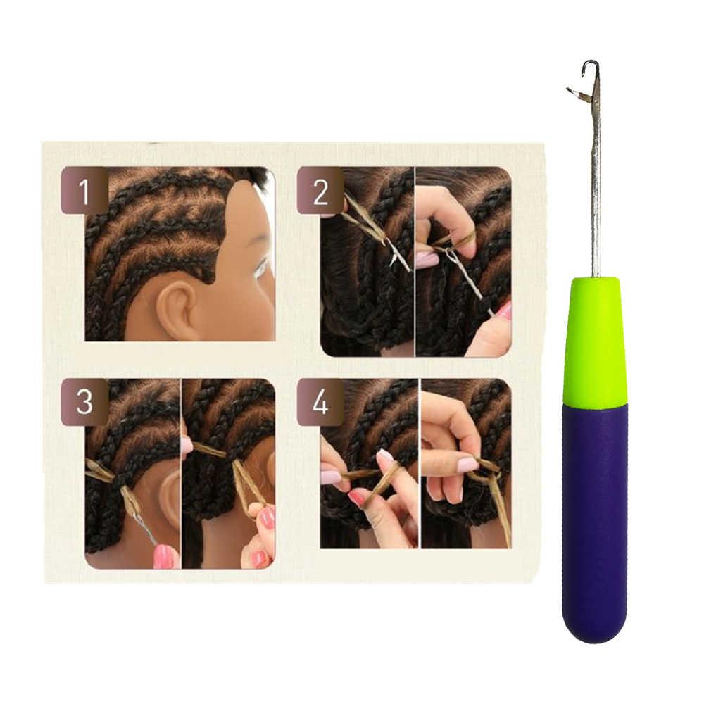 Крючком, спицами оплетка для волос микро-тесьма иглы Dread блокировки поддерживающие инструменты фиолетовая ручка
