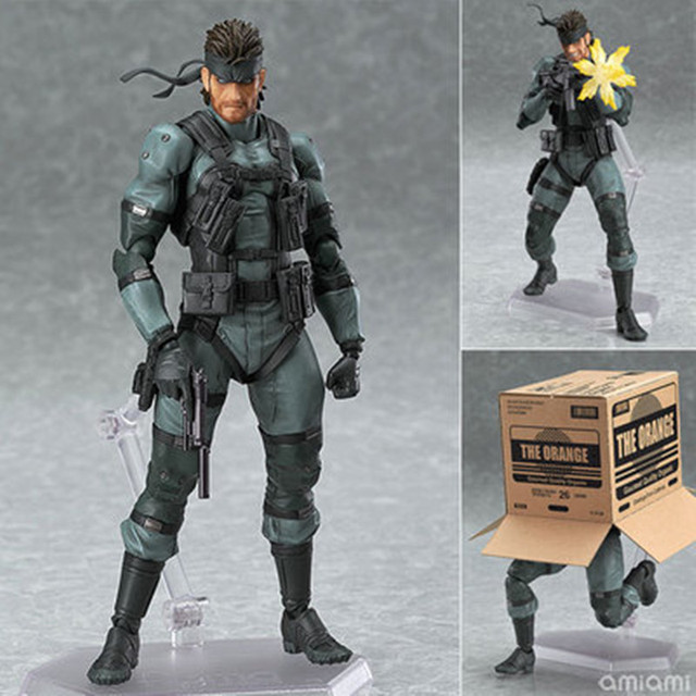 Figma 243 METAL GEAR SOLID 2: SONS OF LIBERTY 15cm Snake PVC Action Figure Collectible Model Toy 1