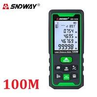 Medidor de distancia láser SNDWAY láser telémetro de ruleta cinta verde Telémetro Láser gobernante Trena Medición de distancia instrumento